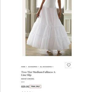 David's Bridal NWT 2 tier medium fullness slip